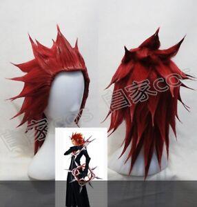 Kingdom Hearts 2 Axel Anime Cosplay styled Men Hair Wigs