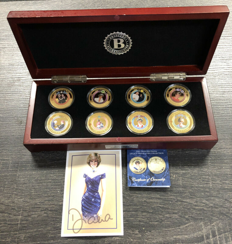 2017 The Princess Diana Legacy 24K Gold Plated Proof Coin Collection