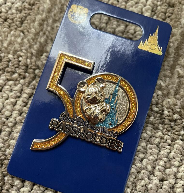 Walt Disney World 50th Anniversary Magic Kingdom Castle Mickey AP Passholder Pin