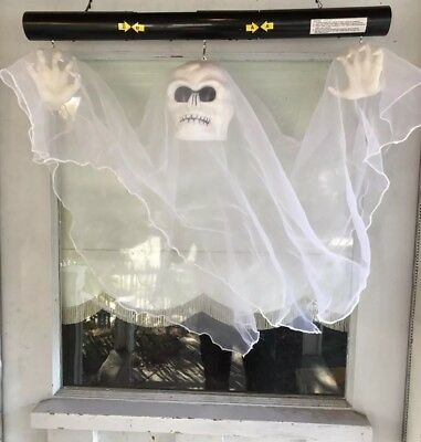 *RARE* Gemmy FLOATING GHOST Animated Halloween LARGE Motion Sound Hanging Prop  (Floating Ghost)