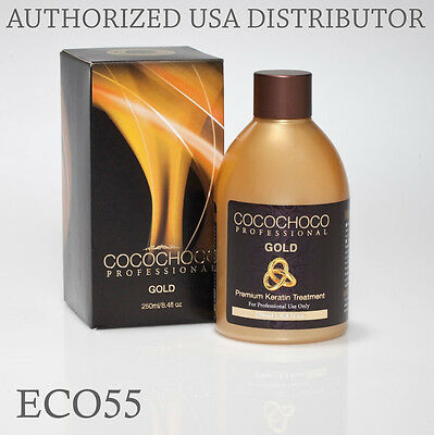 COCOCHOCO Gold Brazilian Keratin Hair Straightening Treatment 8.4oz / 250ml
