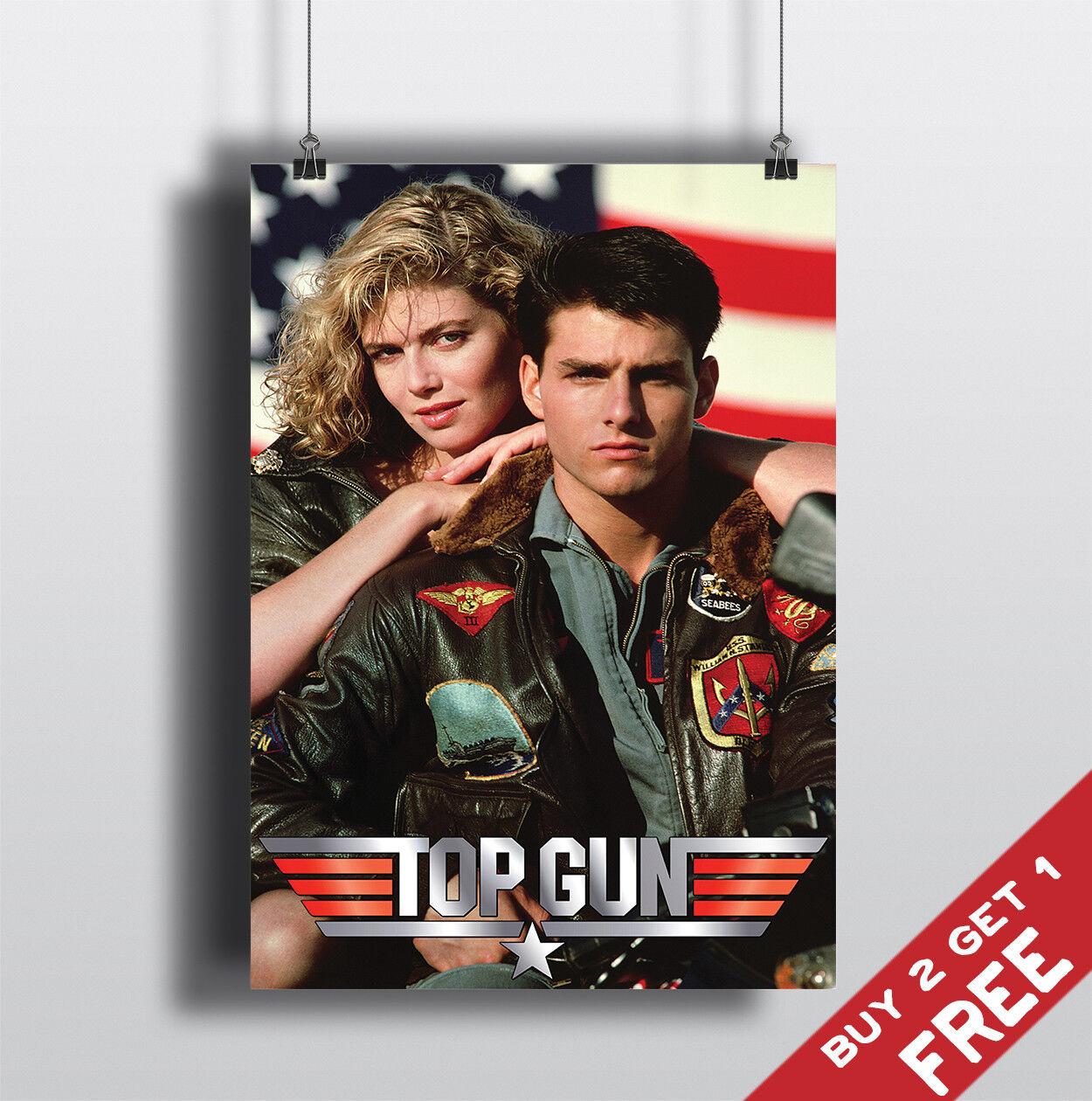 TOP GUN 1986 MOVIE POSTER Tom Cruise Film A3 A4 Fan Art Print Home Wall Decor