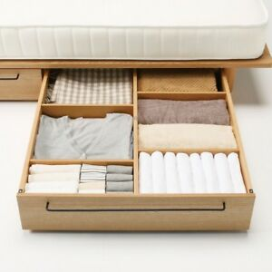 Muji underbed storage drawer, light oak, large