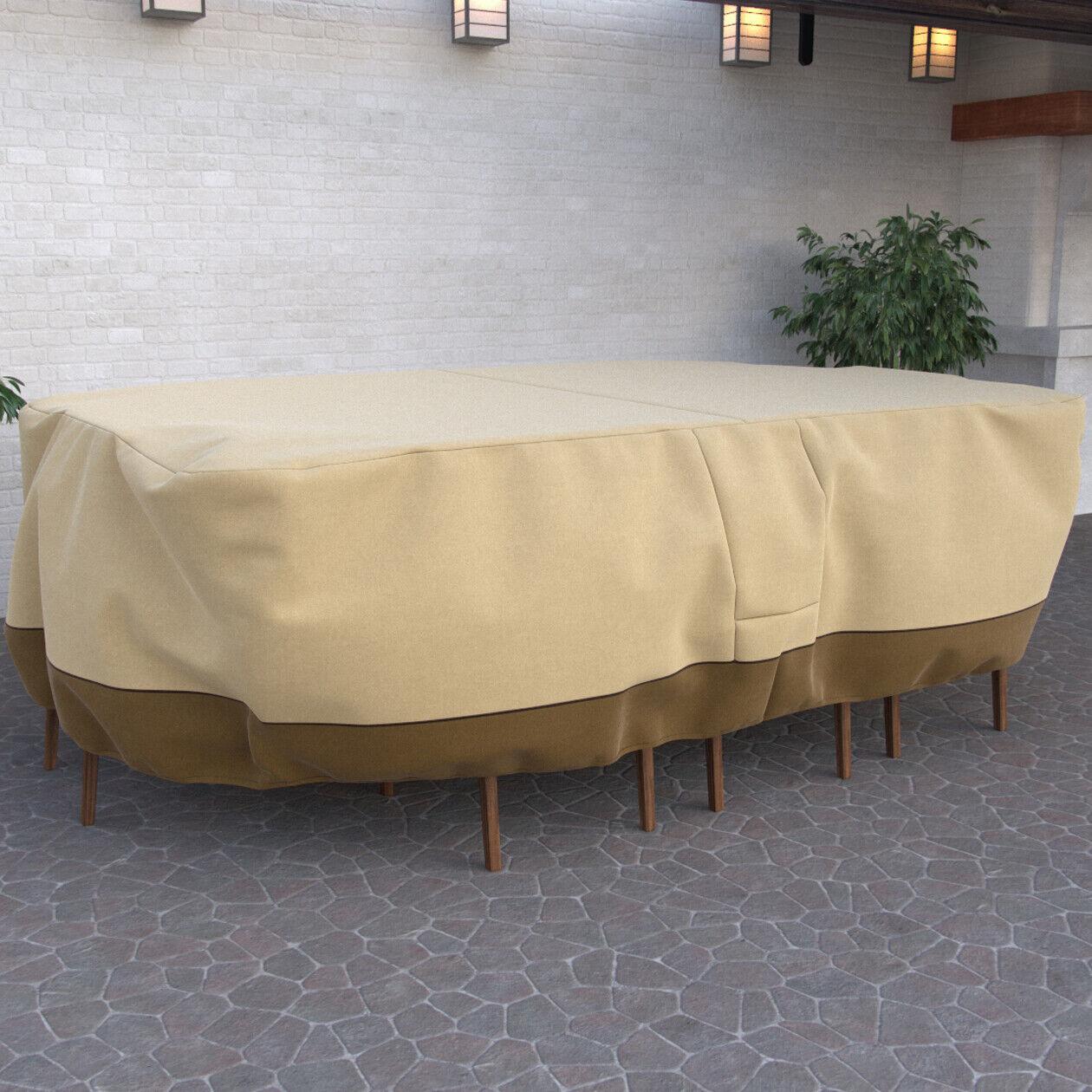outdoor premium waterproof furniture rectangular patio set