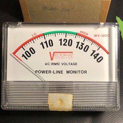 9120-015 - Viz - True Rms Ac Voltage Panel Meter - For Power Line Monitor Wv-120