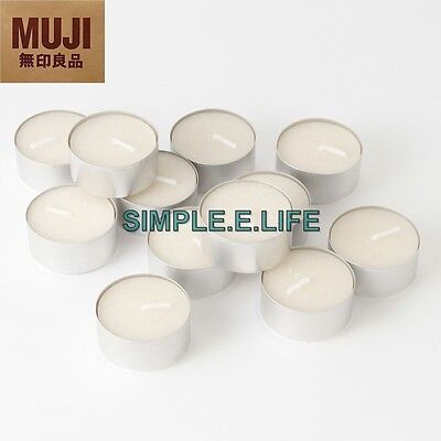 MUJI FRAGRANCE-FREE TEA LIGHT CANDLES 12 PCS MADE IN JAPAN WITH TRACKING