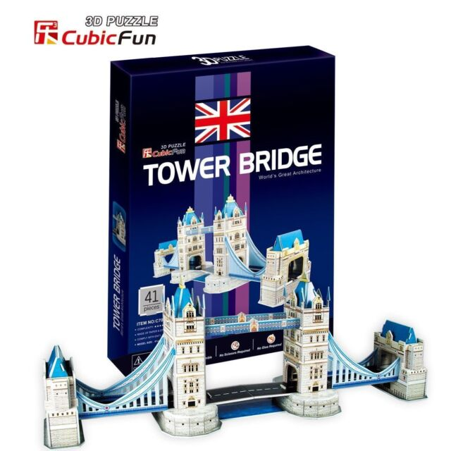 CUBICFUN 3D PUZZLE - TOWER BRIDGE - 41 Pcs C702h - NEW SEALED