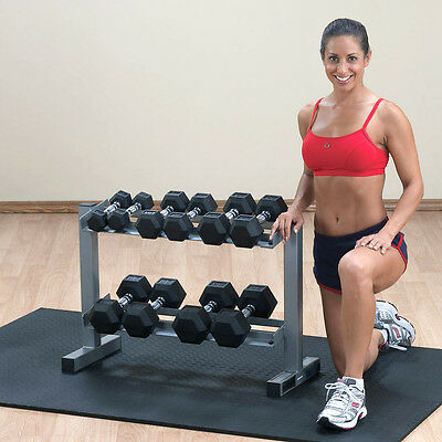 Powerline 2 Tier Dumbbell Rack PDR282X Compact Weight Storage Equipment