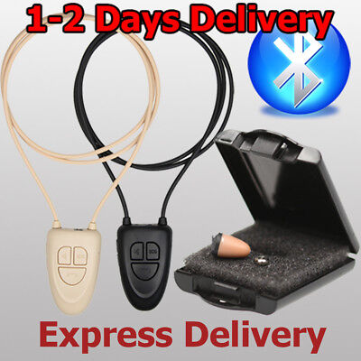 Bluetooth-loop (Nano Invisible Earpiece Bluetooth Loop Set With Micro Spy Wireless Earphone  )