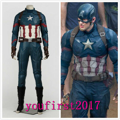 Captain America III Steve Rogers Cosplay Kostüm Party - Captain America Halloween-kostüm