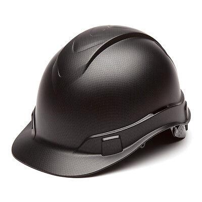 Pyramex Ridgeline Hard Hat Graphite Pattern Black Ratchet Suspension Hp44117