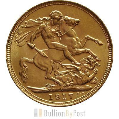 1917 Gold Sovereign - King George V - S