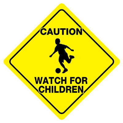 CAUTION WATCH FOR CHILDREN Sign Slow Playing  play safety signs Caution Children Playing Signs