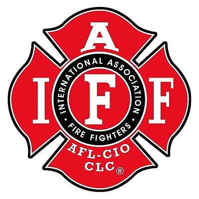 IAFF International Fire Fighter Red Bumper Sticker 4
