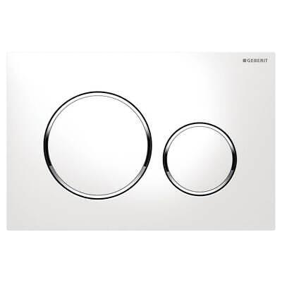 GEBERIT SIGMA20 DUAL FLUSH PLATE WHITE/GLOSS CHROME/WHITE - 115.882.KJ.1