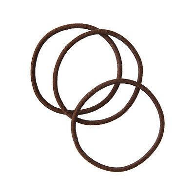 New Muji Hair Rubber Band Fine Brown 3 pieces Japan