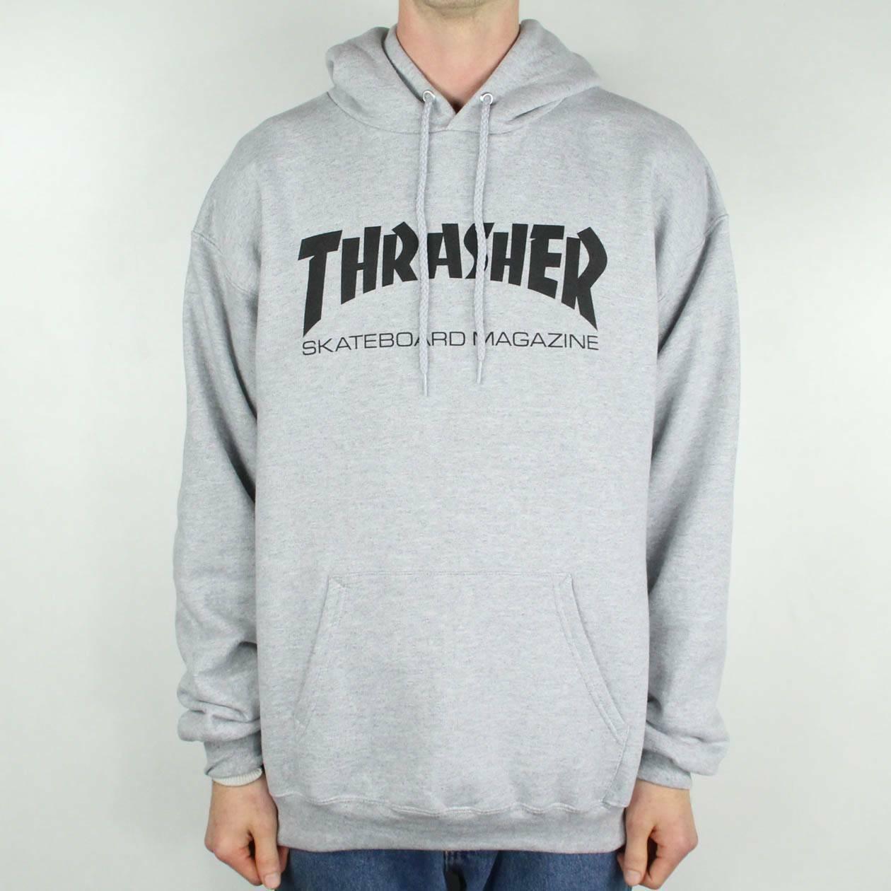 Dettagli su Thrasher STOCK Logo Pullover Felpa Con Cappuccio – in grigio taglia S, M, L, XL mostra il titolo originale
