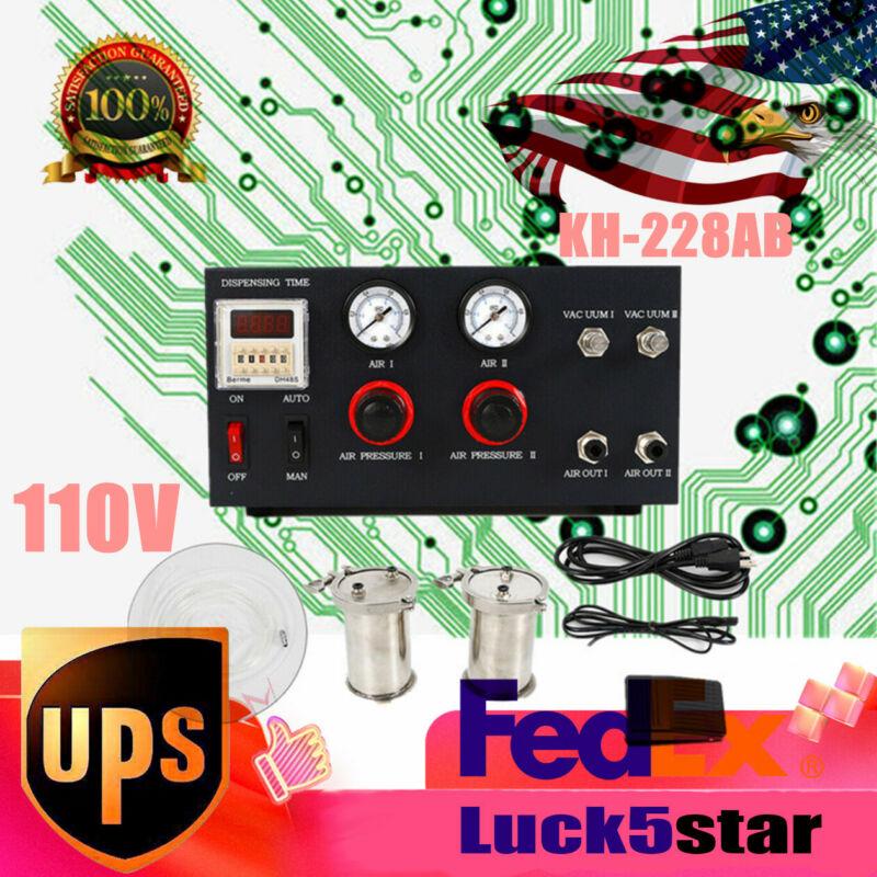 1:1 1:2 Mixer Ratio AB Mixing Doming Liquid Digital LCD Glue Dispensing Machine