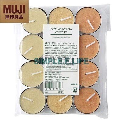 MUJI JAPAN ZEN FRUITY FRAGRANT CANDLES LEMON BERGAMOT SWEET ORANGE WITH TRACKING