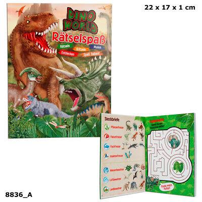 Dino World Rätselspaß, Dinos Dinosaurier Malbuch Quiz Rätselheft Depesche 8836 ()