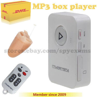 Mp3 Player Box Spy Earpiece Wireless Hidden Cover Student Agent Cheating Exam