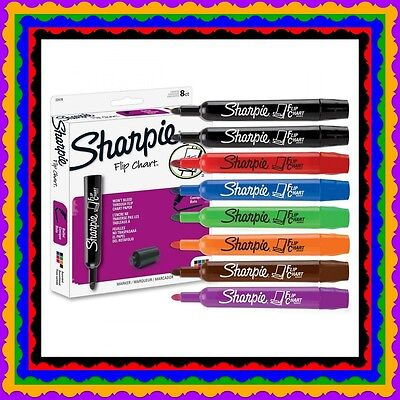 Nwob 16 Sharpie Flip Chart Markers Assorted Colors Rainbow Plus Brown 4black