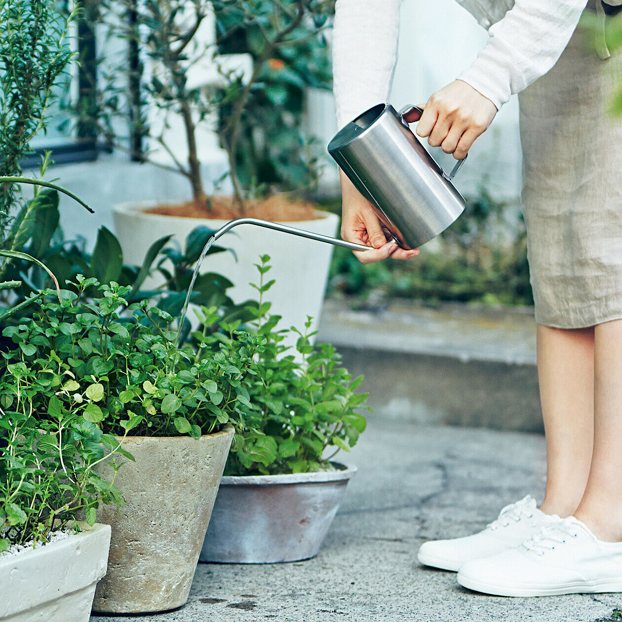 new stainless steel watering can long 1l