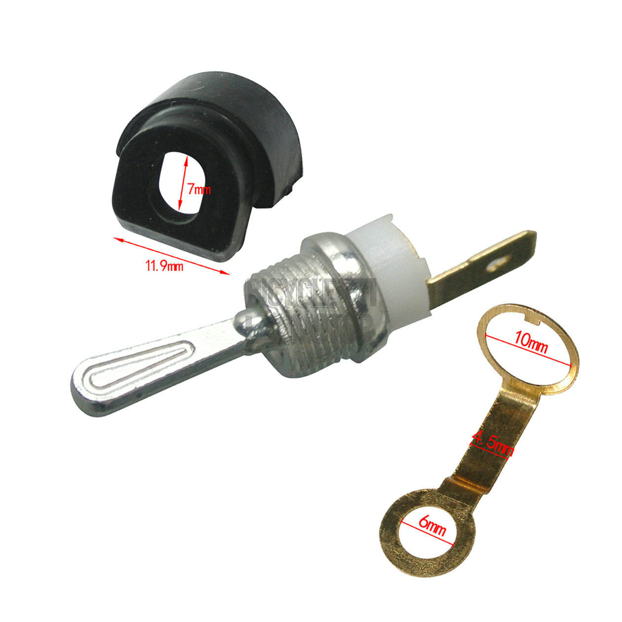 Spring /& On//Off Switch Bushing Sleeve For Chinese 4500 5200 Chainsaw Kit Set