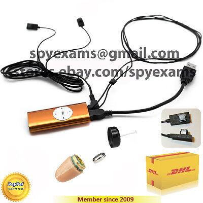 Mp3 Player Spy Earpiece Invisible Secret Cheat Exam Bluetooth  Micro Student 007
