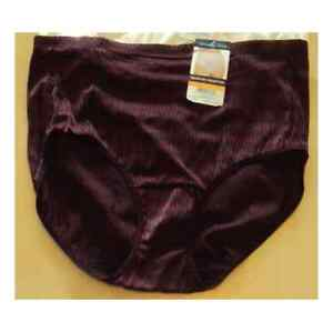 Vanity Fair Signature Collection Hi-Cut Brief Panty Brown 13457 9 2XL-NWT