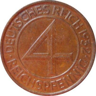 J315  4 Pfennig Weimar von 1932 G in SS   666 229