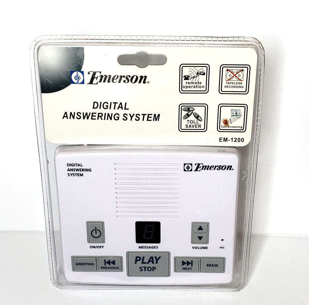 Emerson Digital Answering Machine System, EM-1200 - NEW, FAC