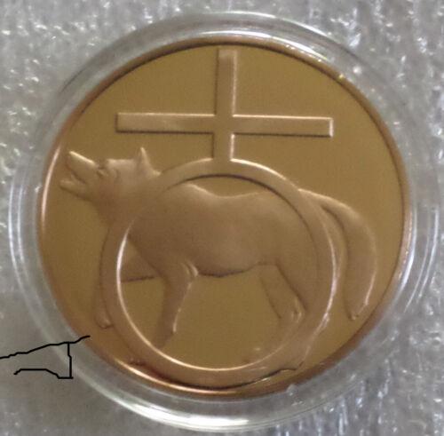 Antimony Emetic Mineral Favorite of The Iatrochemists Rare Vintage Bronze Medal