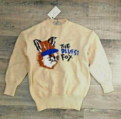 Bluest Fox Knit Sweater Maison Kitsune Beige ADER Error
