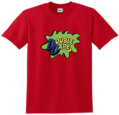 RED Double Dare Logo Nickelodeon Costume T-shirt  S-5XL - Double Dare Costume