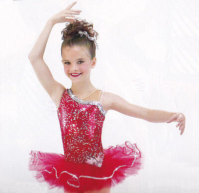 Clearance Ballet Tutu Dance Costume Christmas HOT SHOT Groups  Child XS & S  - Christmas Group Costumes