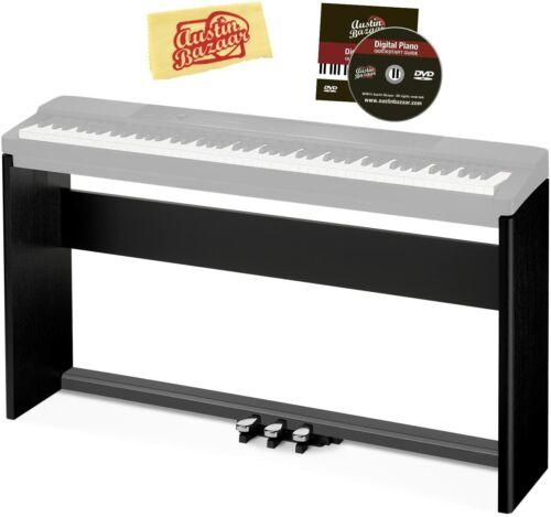 Casio CS-67 Digital Piano Stand - Black Bundle with Casio SP-33 Pedal System, Au