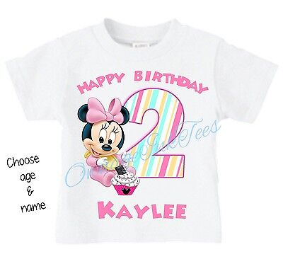 Baby Minnie Mouse CHOOSE AGE AND NAME Custom t-shirt Personalize - Minnie Mouse Custom