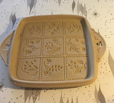 Vintage Brown Bag Cookie Art Shortbread Stoneware Mold 1988 Hill Design NEW!