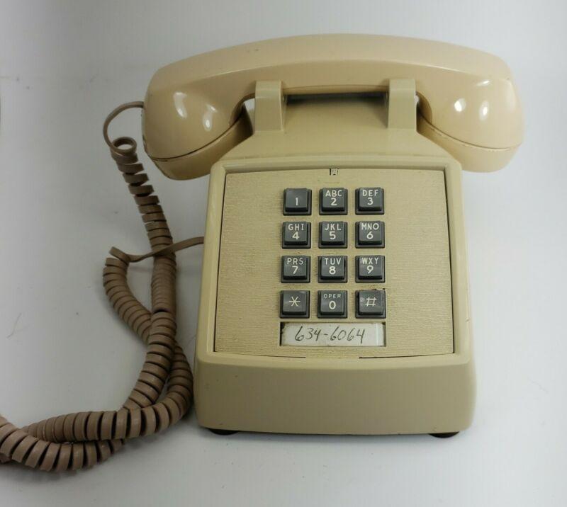 AT&T Vintage Desk Phone Cream 80s Touch Tone Push Button Landline