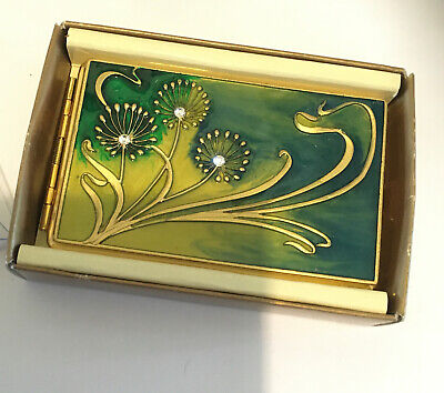 NEW Beautifull Address Case Card Holder Pewter Art Nouveau Designs Pastimes