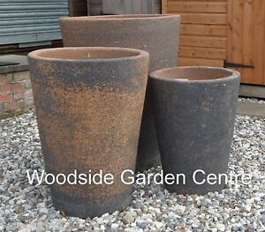 extra large old stone monster crucible plant pots vases