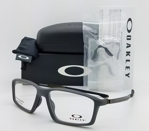 NEW Oakley Chamber RX Eyeglasses Frame Pavement Grey Metal OX8138-0255 55mm