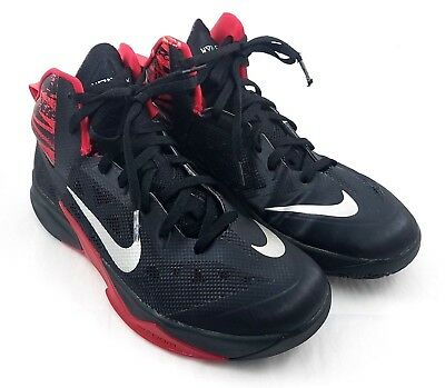 buy popular 25a32 b617d Nike Zoom Hyperfuse 2013 Men s Basketball Shoes Size 9.5 Black Red Adaptive  Fit