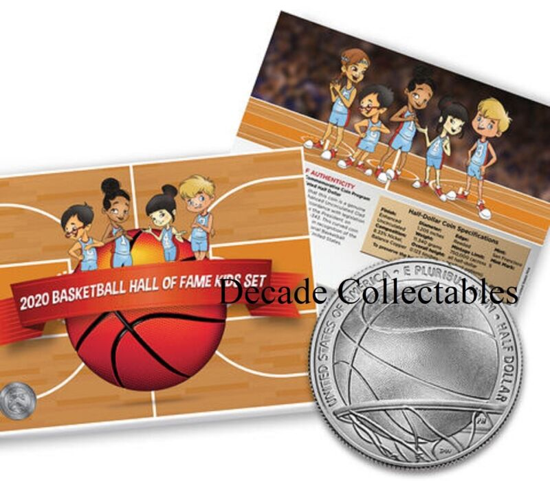 2020 Basketball Hall Fam Enhanced Uncirculated Clad Half Dollar Kid PRESALE 20CH