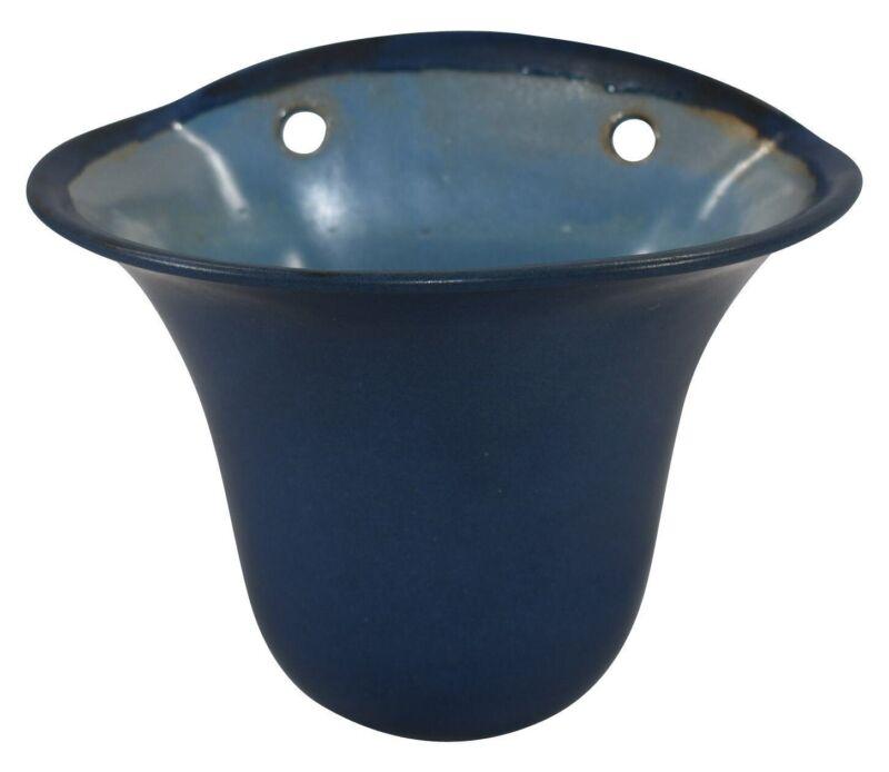 Marblehead Pottery Matte Blue Wall Pocket Shape 151