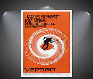 Alfred-Hitchcocks-Vertigo-James-Stewart-Vintage-Movie-Poster-A1-A2-A3-A4