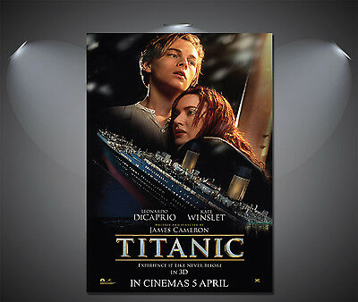 Titanic Leonardo DiCaprio Vintage Movie Poster - A1, A2, A3, A4 available