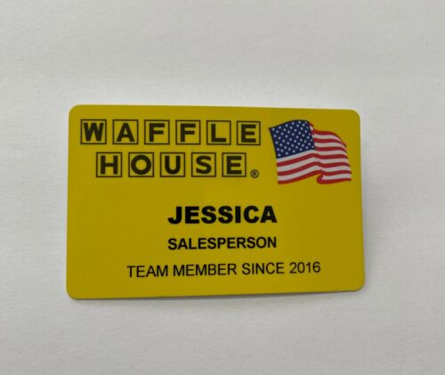 Waffle House Employee Name Badge Tag Jessica Jessica Modern 2016 Authentic Rare