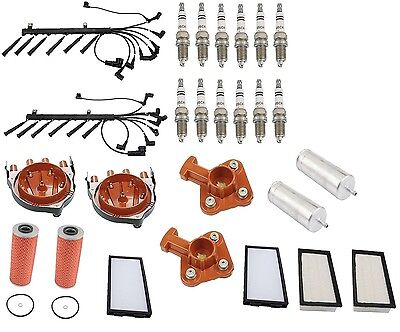 BMW E32 750iL V12 6/90-94 Tune Up Kit Air Cabin Fuel Oil Filters Plugs Wire Set